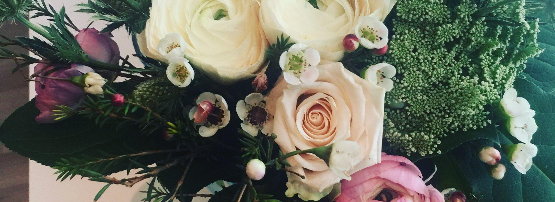 Kukat osana sisustusta